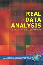 Cover of: Real Data Analysis by Shlomo S. Sawilowsky