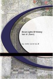 Beacon Lights of History PDF