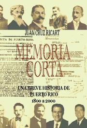 Cover of: Memoria Corta by Juan Cruz-Ricart