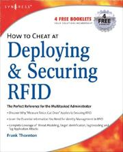 How to Cheat at Deploying and Securing RFID (How to Cheat) (How to Cheat) PDF