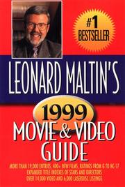 Leonard Maltin's Movie and Video Guide 1999 (Leonard Maltin's Movie & Video Guide, 1999) PDF