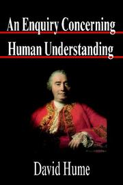 Cover of: An Enquiry Concerning Human Understanding by David Hume