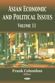 Asian Economic and Political Issues by Frank Columbus