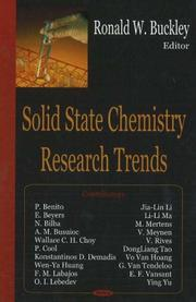 Solid State Chemistry Research Trends PDF