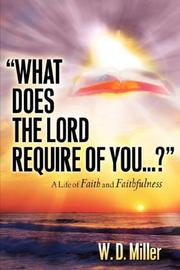 What Does The Lord Require Of You...? PDF