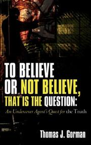 TO BELIEVE OR NOT BELIEVE, THAT IS THE QUESTION PDF