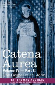 Cover of: CATENA AUREA by Thomas Aquinas