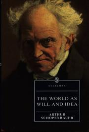 Cover of: The world as will and idea by Arthur Schopenhauer