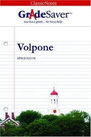 GradeSaver(tm) ClassicNotes Volpone
