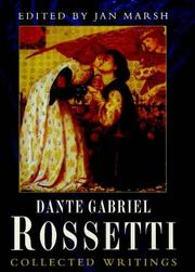 Dante Gabriel Rossetti by Jan Marsh