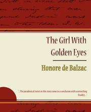 Cover of: The Girl With Golden Eyes - Honore de Balzac by Honoré de Balzac