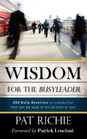 Wisdom for the BusyLeader PDF
