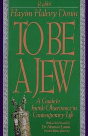 To be a Jew by Hayim Donin