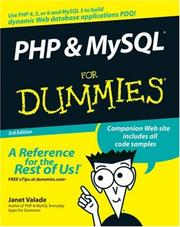 PHP & MySQL for dummies by Janet Valade