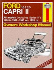 Ford Capri II All Models 1974-87 Owner's Workshop Manual PDF