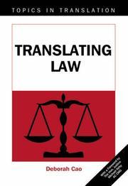 Translating Law (Topics in Translation) PDF