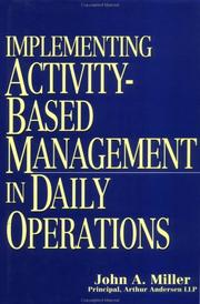 Implementing activity-based management in daily operations PDF