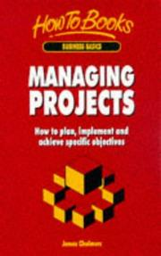 Managing Projects (How to) PDF