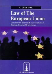 Law of the European Union PDF