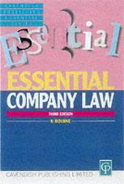 Essential Company Law (Essentials) PDF