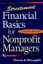 Streetsmart financial basics for nonprofit managers PDF
