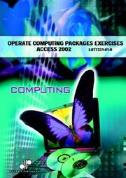 Operate Computing Packages Exercises Access 2002 PDF