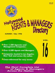 Hollywood Agents and Managers Directory (Hollywood Representation Directory) PDF