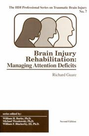 Brain injury rehabilitation by Richard Guare