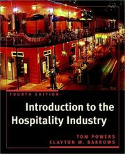 Introduction to the hospitality industry by Thomas F. Powers