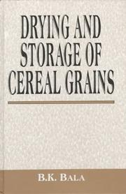 Drying and Storage of Cereal Grains PDF