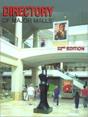 Directory of Major Malls - 2001, 22nd edition PDF
