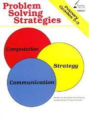 Problem Solving Skills Grades 2-3 PDF