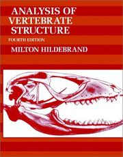 Analysis of vertebrate structure by Milton Hildebrand