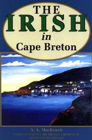 The Irish in Cape Breton by A. A. MacKenzie