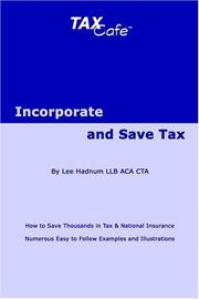 Incorporate and Save Tax PDF