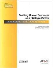 Enabling Human Resources as a Strategic Partner