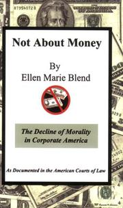 Not About Money by Ellen Marie Blend