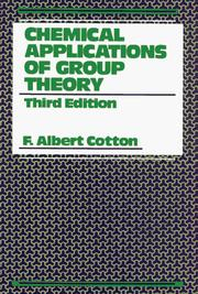 Chemical applications of group theory by F. Albert Cotton