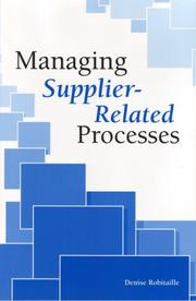 Managing Supplier-Related Processes PDF