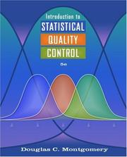 Introduction to statistical quality control by Douglas C. Montgomery