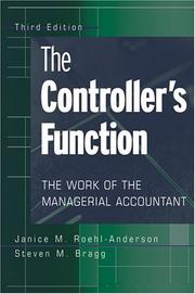 The Controller's Function by Janice M. Roehl-Anderson