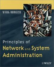 Principles of network and system administration by Burgess, Mark