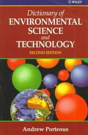Dictionary of environmental science and technology PDF