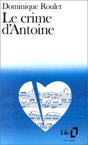 Le crime d'Antoine PDF