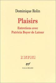 Plaisirs by Rolin, Dominique