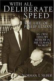 With all deliberate speed by Norman Isaac Silber
