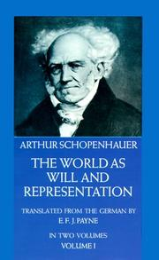 Die Welt als Wille und Vorstellung by Arthur Schopenhauer