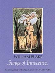 Songs of innocence by William Blake