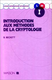 Introduction aux méthodes de la cryptologie by Brian Beckett