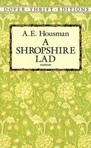 A Shropshire lad by A. E. Housman